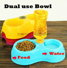 Free DHL Fedex 50pcs/lot Dual Use Bowl For Dogs Food Dish Drinking Troughs Pet Supplies Feeder Drinker(China (Mainland))