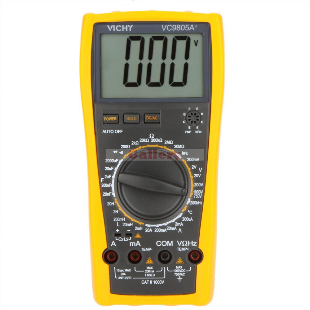 Vici VICHY VC9805A+ Digital Multimeter DMM LCR Meter w/Temperature Inductance Capacitance Frequency &amp; hFE Test<br><br>Aliexpress