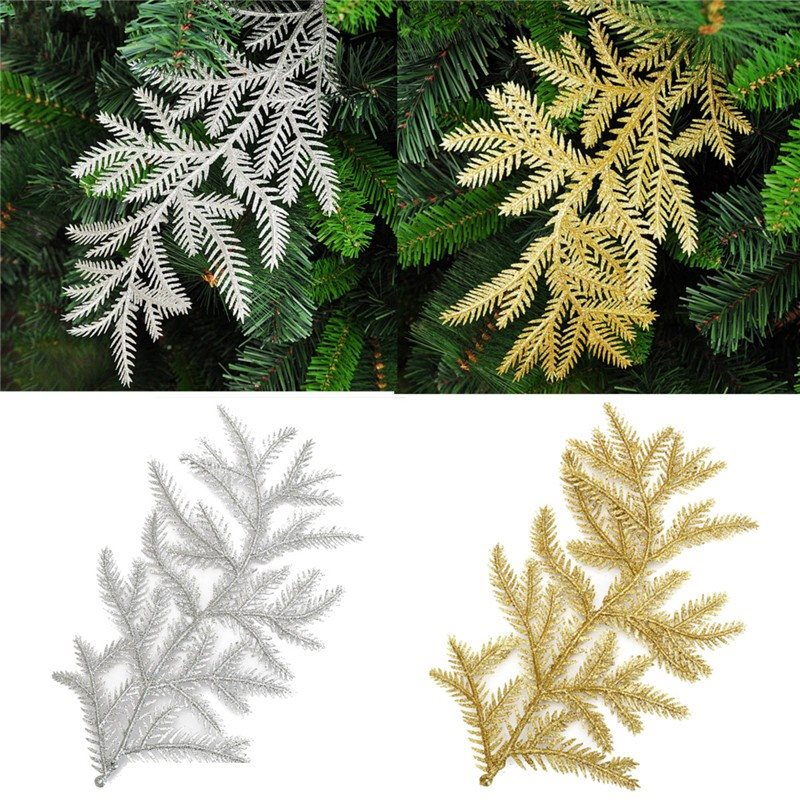 Christmas X'mas Tree 30*20cm Hanging Party Decoration Ornament High Quality Gold Silver Cane For Festival Supplies(China (Mainland))