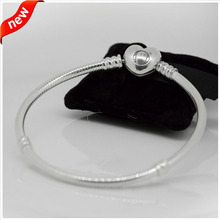 Heart  Silver Bracelets Compatible with European Jewelry New 100% 925 Sterling Silver DIY Beads Wholesale FLB12011(China (Mainland))