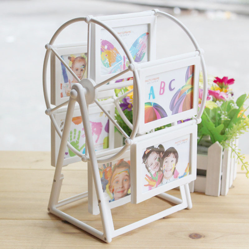 Hot Sale photo frame European windmill Frame 2 inch Ferris wheel combination 12 photos Wholesale High Quality(China (Mainland))