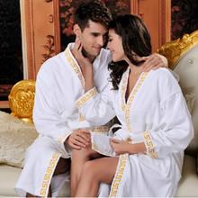 Factory direct wholesale winter -grade male and female couple cotton bathrobes bathrobe cotton bathrobe(China (Mainland))