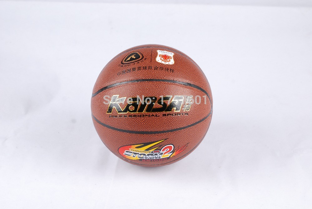 2015Hot selling Chinese Olympic team co-brand kANSA PVC wear and indoor and outdoor basketball on the 7th Free With Needle+Pump(China (Mainland))