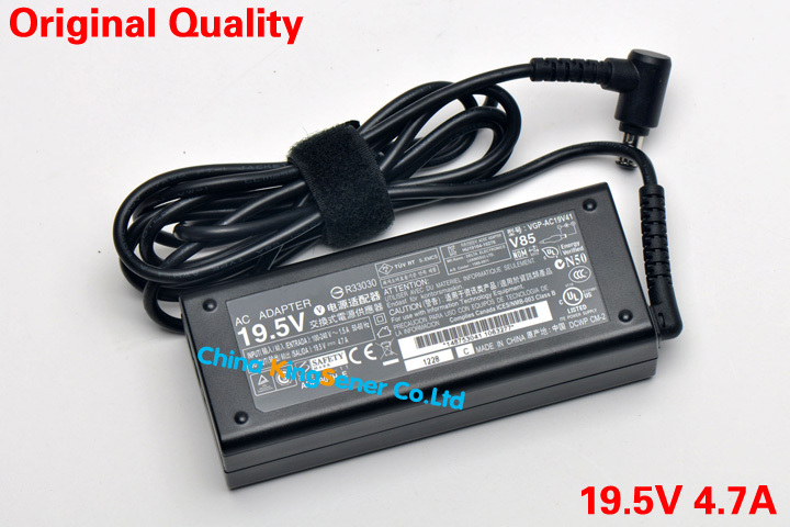 19.5V 4.7A Original Quality Laptop AC Adapter Power Charger For SONY Vaio VGN-A VGN-BX VGN-C VGN-NR VGN-SZ Series VGP-AC19V41(China (Mainland))