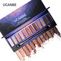 UCANBE 6 Color Light Medium Contour Kit Bronze Glow Pressed Powder Palette Highlighter Bronzer Contouring 3D Face Makeup Set