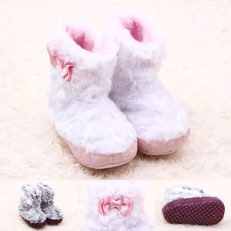 Fashion 2014 New Winter Baby Warm Boots Shoes Toddler Infant Girls First Walkers Crib Shoes free shipping(China (Mainland))