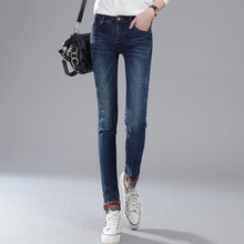 New 2016 Hot Fashion Ladies Cotton Denim Pants Stretch Womens Skinny Jeans Denim Jeans For Female high quality 1916