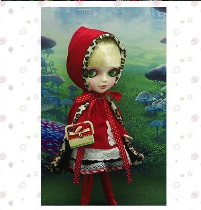 Tang Guo TANGKOU doll little red riding hood can change makeup fine eyes long eyelashes - goodsok store