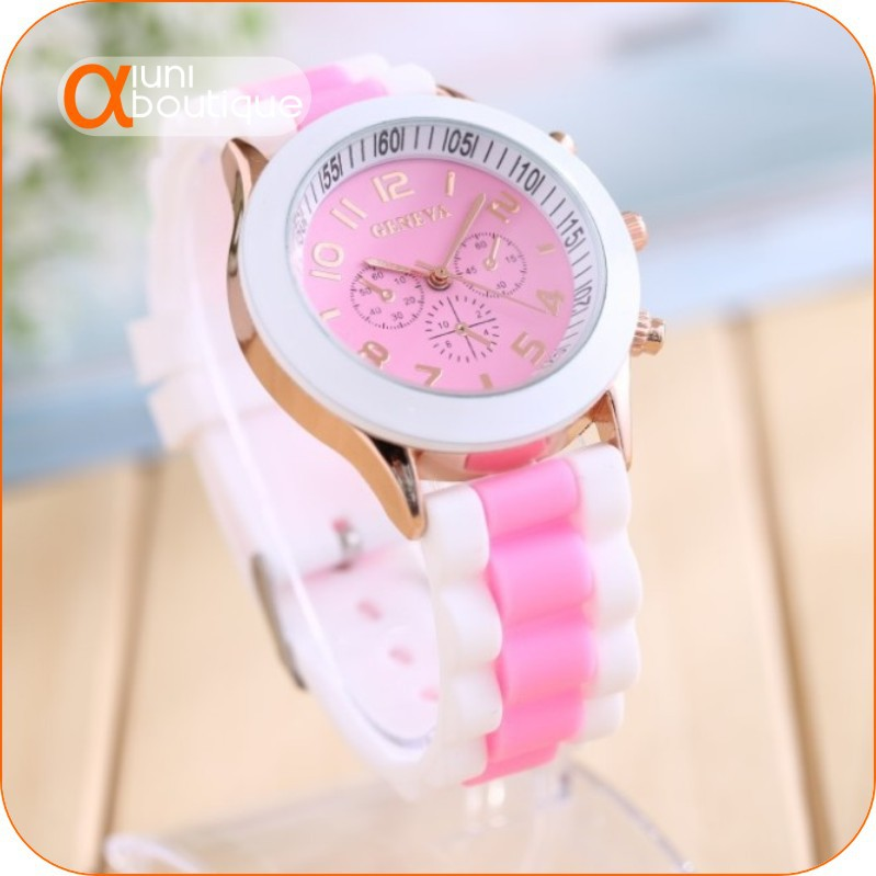 2015 free shipping fashion silicone bump color jelly women watch ice cream color quartz watch in Geneva-w015(China (Mainland))