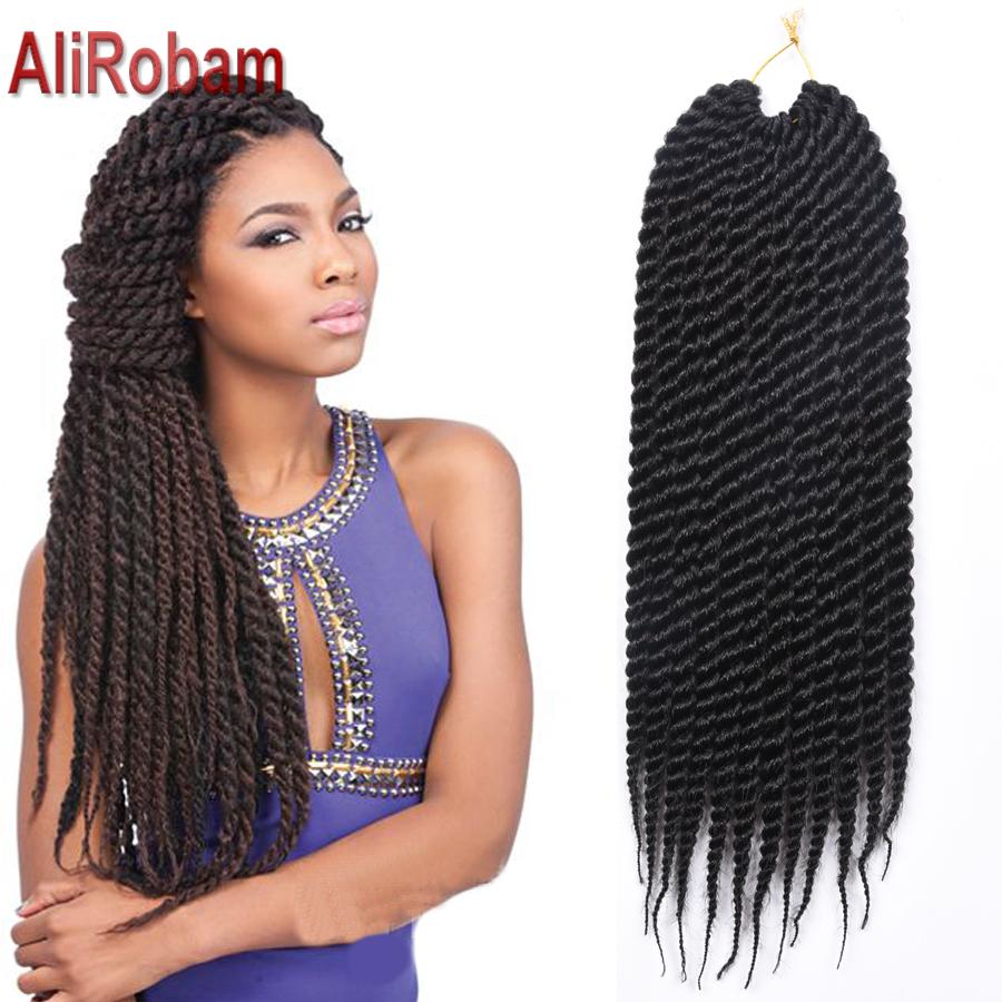 18 12strands Crochet Braids Box Braids Afro Twist Hair Color Havana ...