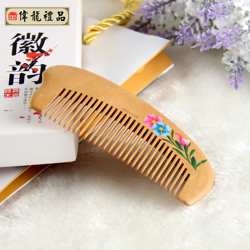 Pattern peach combs chinese style unique gift commercial practical gifts(China (Mainland))