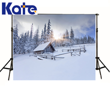 Backgrounds For Photo Studio Photography Backdrops Sunshine Through Forest Wood House Snow Floor For Wedding Thick Cloth