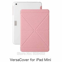 New Moshi Versacover PU leather fold shapes Business case for Apple Mini + free shipping(China (Mainland))