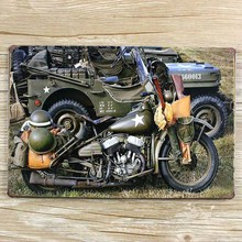 Metal Tin signs Vintage plaque Retro wall decor blue Motorcycle bar home iron poster paintings 20*30 CM free shipping YT-00383(China (Mainland))