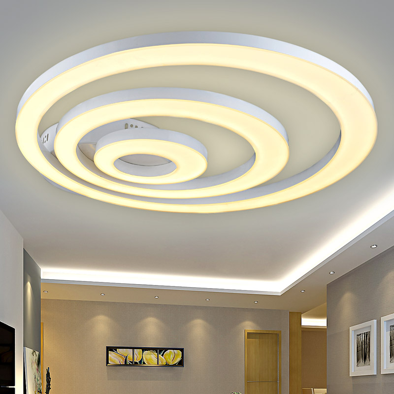 creative modern led ceiling lights for living room bedroom remote control dimming deckenleuchten. Black Bedroom Furniture Sets. Home Design Ideas