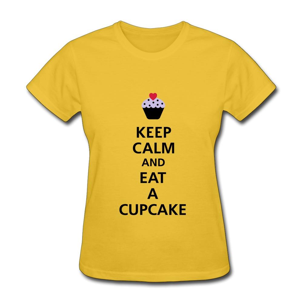 Women 39 S T Shirt Gildan Keep Calm And Eat A Cupcake F3
