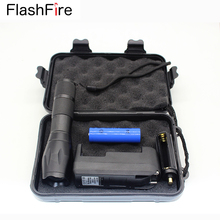 E17 CREE XM-L T6 3800Lm Focus Zoom G700 rechargeable flashlight torch lantern + 18650 battery + Gift Box + Charger(EU or US)(China (Mainland))