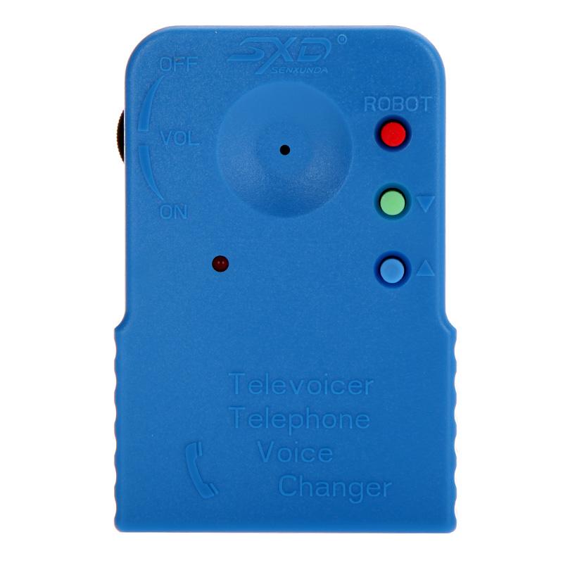 Mini Portable Wireless 8 Multi Voice Changer Blue Phone Microphone Portable Audio Video(China (Mainland))
