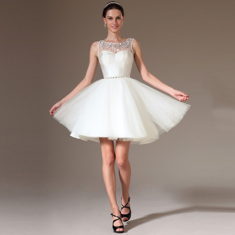 Online Get Cheap White Puffy Short Dress Tulle -Aliexpress.com ...