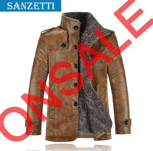 free shipping 2015 hot sale Man Leather Coats Jackets Casual Artificial Leather motorcycle jacket clothing sanzetti