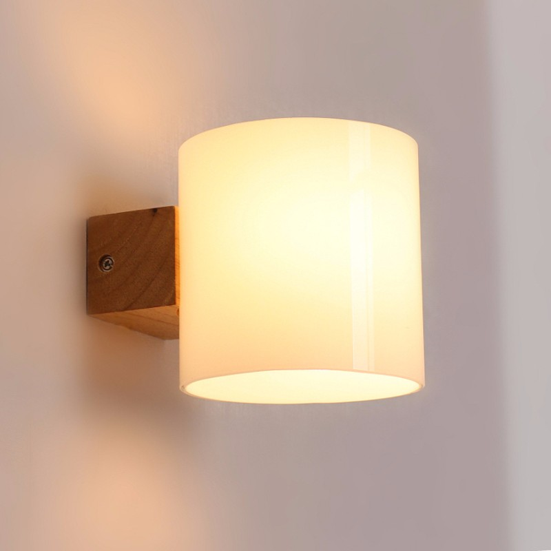 Best Quality Simple Modern Solid Wood Sconce Led Wall Lights For Home Bedroom Bedside Wall Lamp