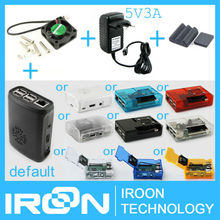 Raspberry Pi 3 Cooler Cooling Fan Radiator Heat Radiation Fan + 5V3A AC Adaptor DC Power Adapter Supply +Case Box +SIC Heat Sink(China (Mainland))