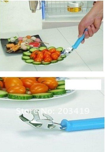 stainless steel Saucer clip dish holder bowl tongs many colors healthy safety tool for home wholesale