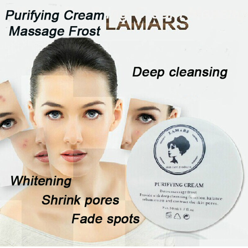 LAMARS Skin Care Detox Purifying Cream Massage Frost Whitening Face Cream To Remove Dark Spot Acne Treatment deep cleansing(China (Mainland))