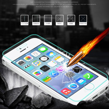 1000pcs 0.3MM 9H explosion proof Tempered Glass Screen Protector for iphone 5 5s 5c 4 4s Toughened protective film+retail box