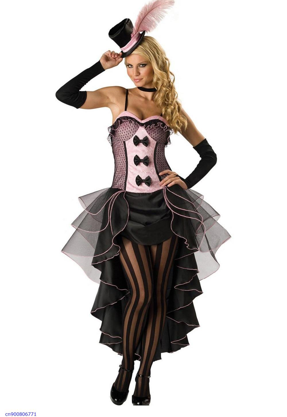 NEW ARRIVAL 2014 Sexy 5 Pieces  Fantasy Black Pink Burlesque Fancy Dress Costume  Sexy Role-playing adult halloween Costume SetОдежда и ак�е��уары<br><br><br>Aliexpress