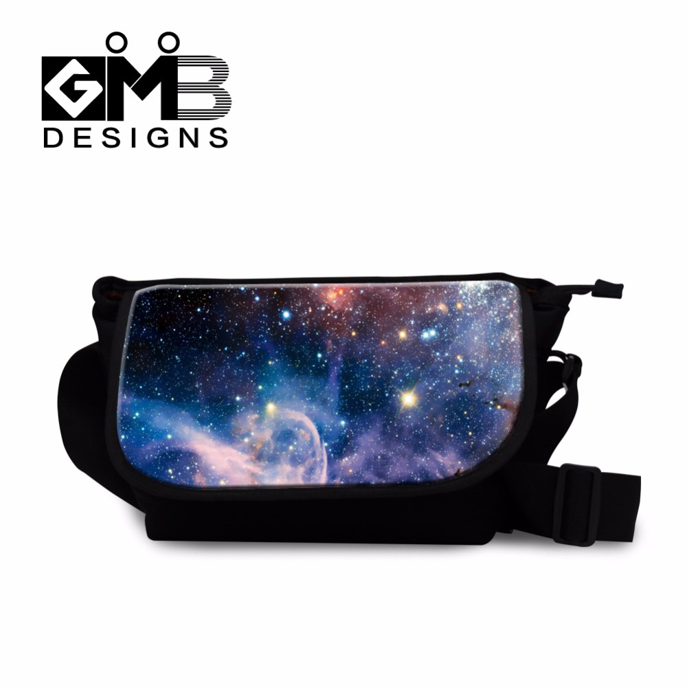 Universe space galaxy star printed messenger bags unique shoulder handbags for teenagers portable crossbody schoolbag 7 color(China (Mainland))