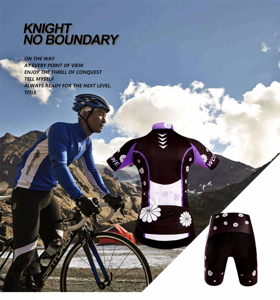Fashion Cycling Clothes Women Cycling Shorts Summer Custom Short Sleeve Jersey Short Set With Gel Pad WOSAWE Bike Cloth QXDT9 GG