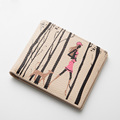 Famous Brand Fashion Cartoon Print Wallet Women Designer Short Genuine Leather Thin Money Clip High Quality