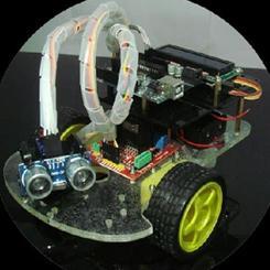 Remote control ultrasonic ranging car smart car suite 2 generation of ultrasonic smart car for arduino(China (Mainland))