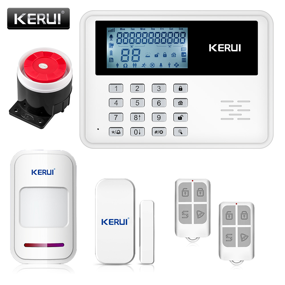 KERUI 5900G GSM Alarm System Wireless Wired Alarm Systems Security Home Alarm APP Control LCD speaker Keyboard Sensor Alarm(China (Mainland))