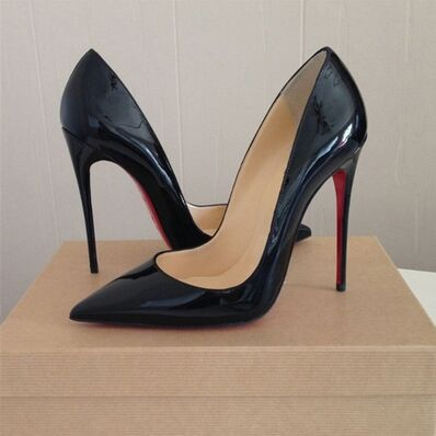 Red Bottom High Heels Brand Patent Leather Women Pumps Pointed Toe High Heels Shoes Woman Bridal Wedding Shoes Plus Size 34-43(China (Mainland))