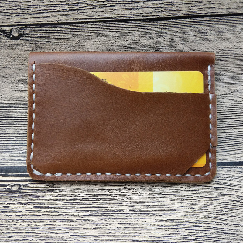 YaKelly best brown leather accessories gift slim card holder wallet cow mens credit - AK fashion Limited store