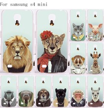 Good Selling Cool Animal Tiger Lion Cell Phone Cover For Samsung Galaxy S4 mini I9190 Cases Unique Plastic and Silicon Housing(China (Mainland))