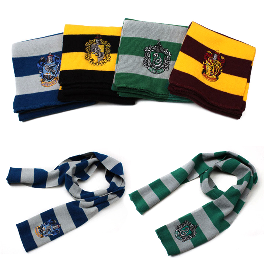 Harry Potter Scarf Scarves Knit Scarves Cosplay Costume Gift for Teenagers Winter Scarves(China (Mainland))