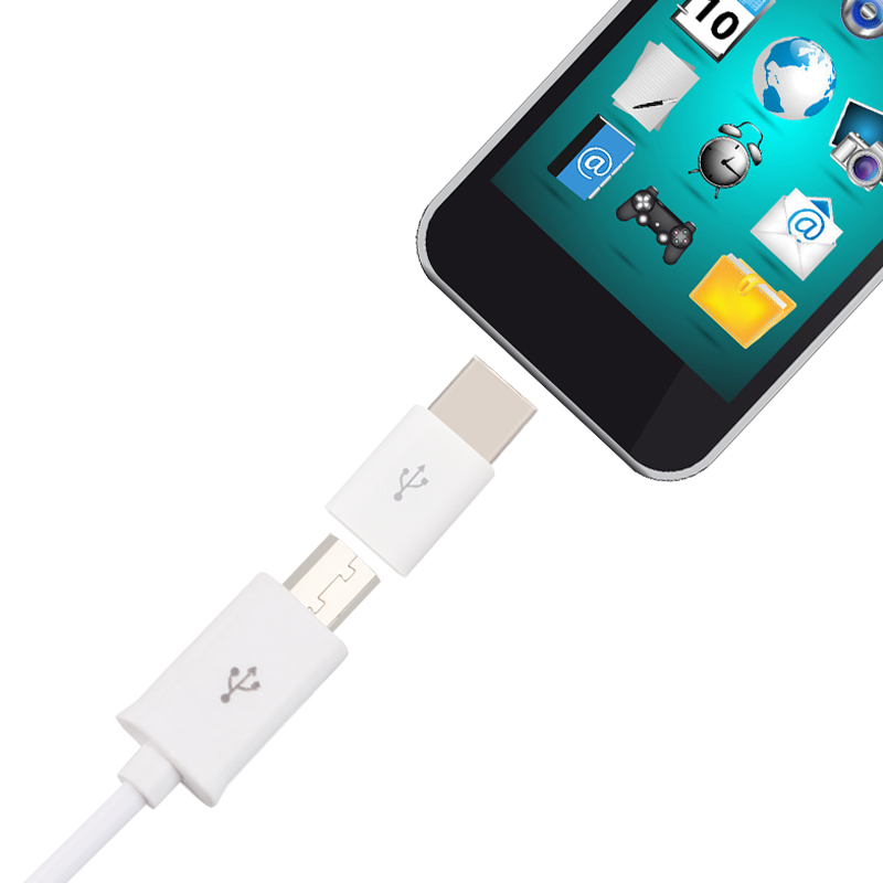 New Adapter Micro USB to Type-C Type C Adapter Sync Charge TypeC Connector A Inserted From Both Side Size M8617(China (Mainland))