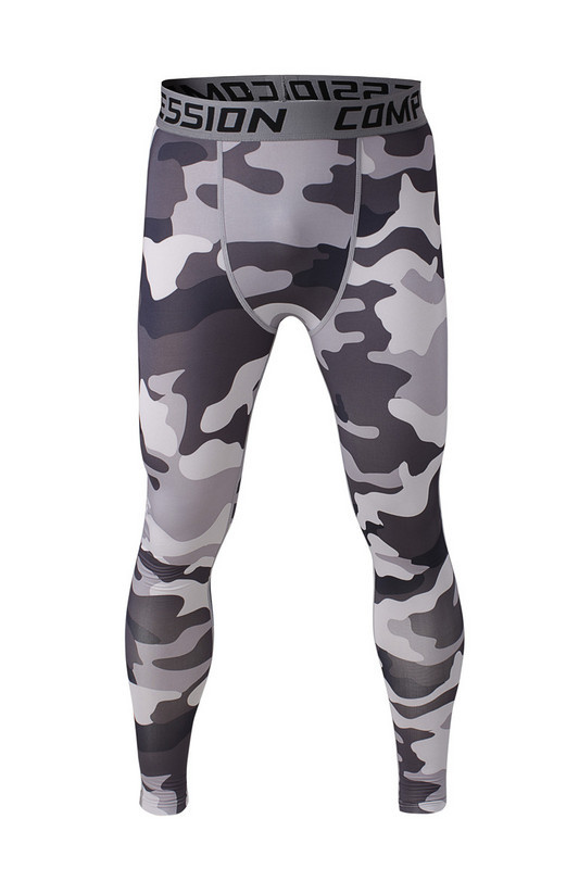 Camo Mens compression pants sports running tights basketball gym pants bodybuilding male jogger jogging trousers skinny leggings(China (Mainland))