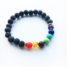 Buy New 2016 Design Mens Bracelets Black Lava 7 Chakra Healing Balance Beads Bracelet Men Women Rhinestone Reiki Prayer Stones for $1.00 in AliExpress store