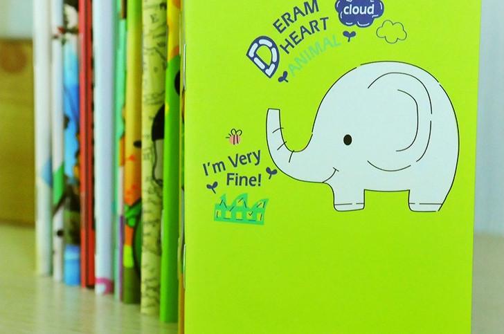Fashion Mini Palm Notepad Cartoon Animal Notebook Journal Diary Memo Writing Pad Stationery Office&School Supplies #NB257(China (Mainland))