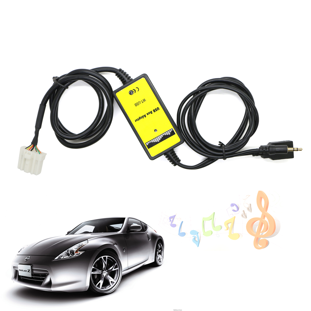 new 3 5mm auxiliary audio aux cable usb aux adapter car. Black Bedroom Furniture Sets. Home Design Ideas