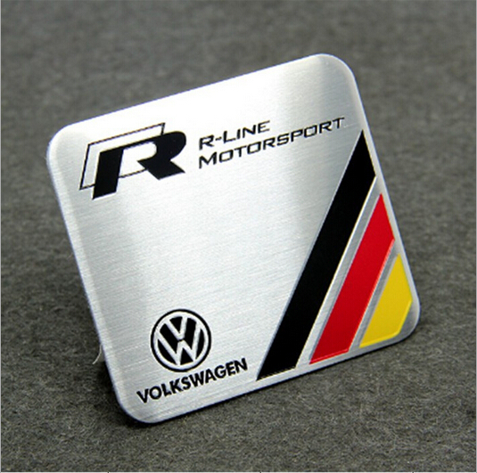 volkswagen r line vw stickers motorsports car emblem badge. Black Bedroom Furniture Sets. Home Design Ideas