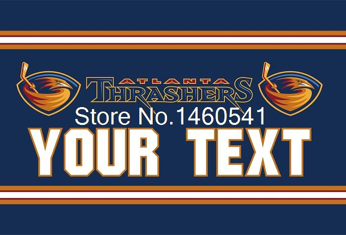 Atlanta Thrashers Custom Your Text Flag 3ft x 5ft Polyester NHL Team Banner Flying Size No.4 144* 96cm QingQing Flag Super Fan(China (Mainland))