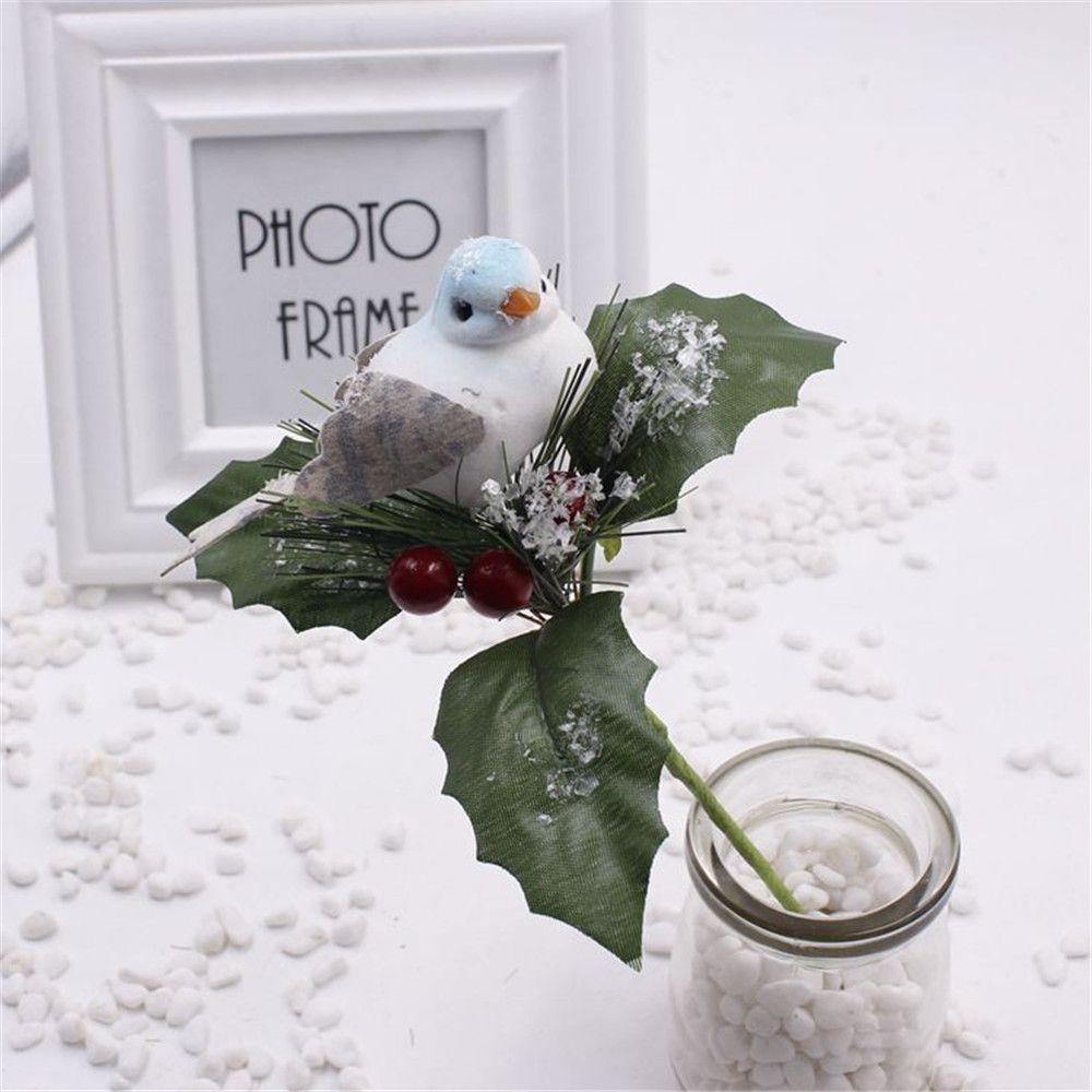 Cheap 1pcs Artificial Bird Flower Supplies For Wedding Car Decoration DIY Christmas bird Scrapbooking Decorative Crafts(China (Mainland))