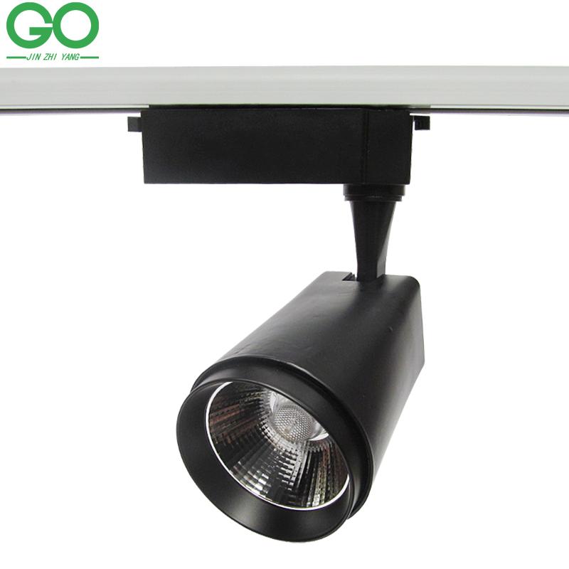 LED Track Light 20W Dimmable Rail Lights Spotlight 45mil Bridgelux 130-140lm/W Equal 200w Halogen Lamp Modern Lighting 85-265V(China (Mainland))