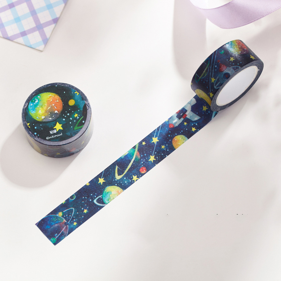 1 Pc / Pack Diy Japanese Paper Masking Washi Tape Planet Decorative Adhesive Tapes / School Supplies Size 20 Mm*10m<br><br>Aliexpress