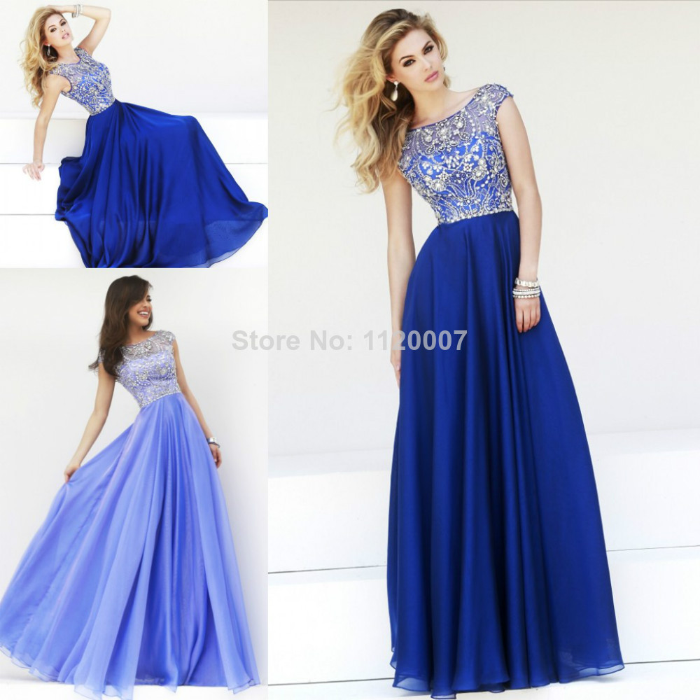 Royal-Blue-Lilac-Modest-Long-Prom-Dresses-2014-Cap-Sleeves-Chiffon ...